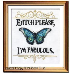 I'm Fabulous cross stitch pattern by Peacock & Fig