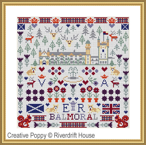 Balmoral Castle - Scotland cross stitch pattern by Riverdrift House