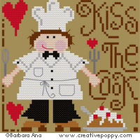 Kiss the cook (male version) <br> BAN050-PRT