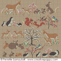 Mother and baby animals, Winter (large) <br> PER045-PRT
