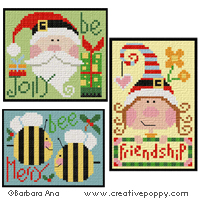 More Christmas ornaments (series2) <br> BAN066-PRT
