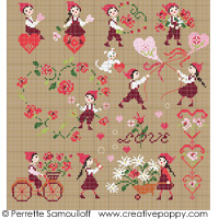 Falling in Love (large pattern) <br> PER131-PRT