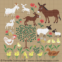 Mother and baby animals (large pattern) <br> PER143-PRT
