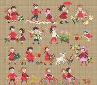 Happy Childhood collection  - Red <br> PER003-PRT