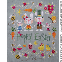 Hoppy Easter cross stitch pattern by Barbara Ana Design
