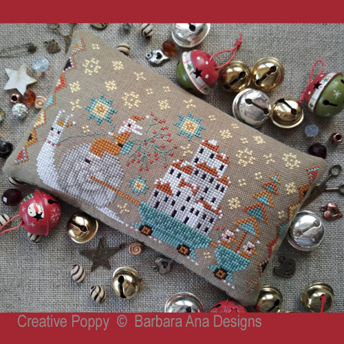 Christmas is Coming cross stitch pattern by Barbara Ana Designs