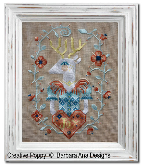 Deer Joy cross stitch pattern by Barbara Ana Designs