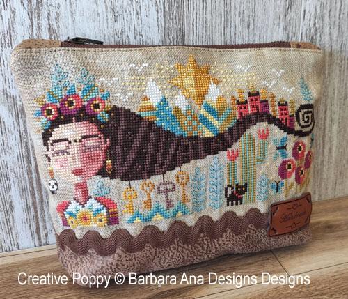 Dreaming Frida cross stitch pattern by Barbara Ana Designs