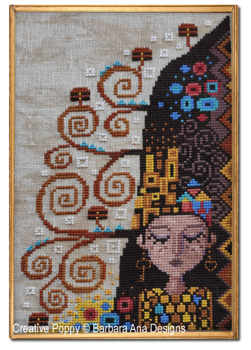 Dreaming of Klimt cross stitch pattern by Barbara Ana Designs