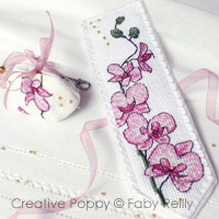 Plum Orchid Bookmark and Fob <br> FAB167-PRT