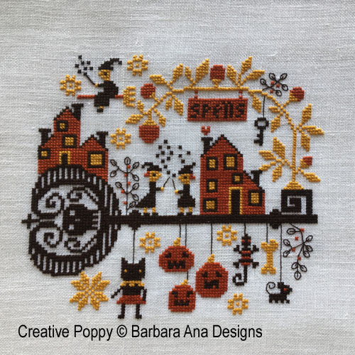 Spelllville cross stitch pattern by Barbara Ana Designs