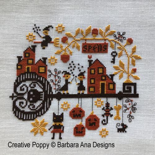 Spelllville cross stitch pattern by Barbara Ana Designs