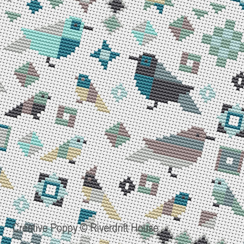 YYY cross stitch pattern by Riverdrift House, zoom1