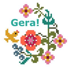 cross stitch patterns by GERA!, designed by Kyoko Maruoka