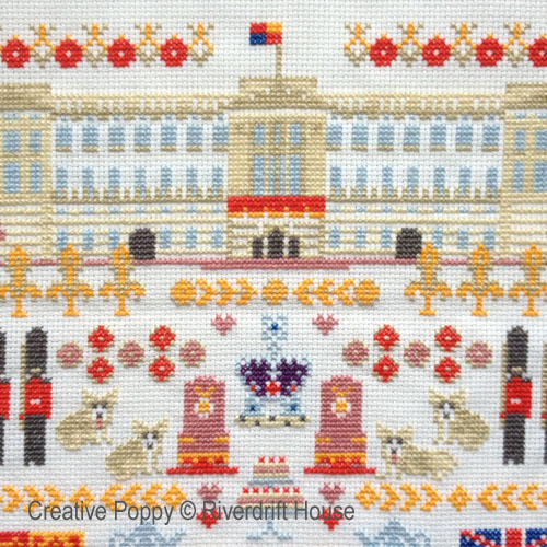 Royal cross stitch pattern by Riverdrift House, zoom 1