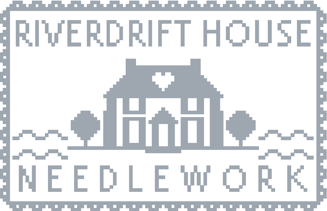 Riverdrift House, cross stitch patterns by Amanda Stevenson