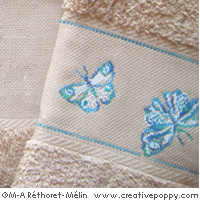 Butterflies - design for Hand towel <br> MAR141-PRT