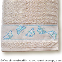 Butterflies - design for Guest towel  <br> MAR142-PRT