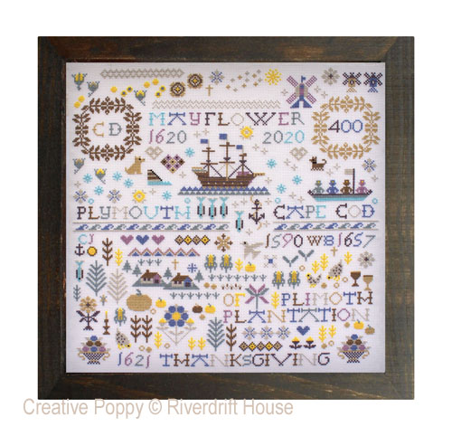 Mayflower 400 cross stitch pattern by Riverdrfit House