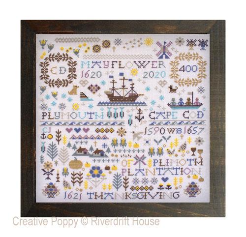 Mayflower 400 cross stitch pattern by Riverdrfit House