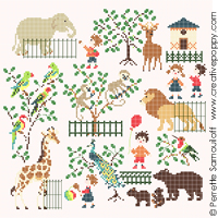Baby at the Zoo (large pattern) <br> PER115-PRT
