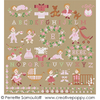 Teddies & Toddlers collection  - For baby girls <br> PER008-PRT