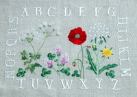 Wildflower ABC (embroidery)  <br> ADC006-PRT