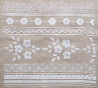 White flower borders <br> ADC013-PRT
