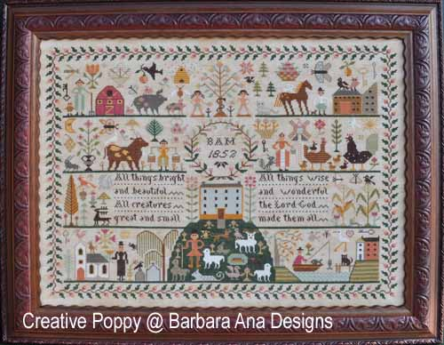All creatures Great and Small cross stitch pattern by Barbara Ana designs