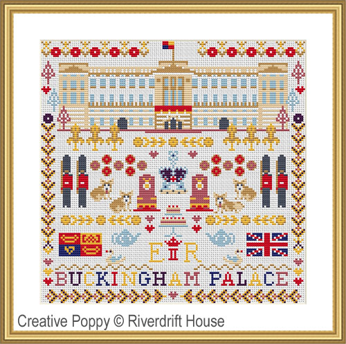 Buckingham Palace sampler cross stitch pattern by Riverdrift House