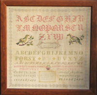 Antique sampler - C. Mathy 1878 - <br> IEFD14-PRT