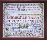 Antique sampler of Swiss origin  - MD - <br> IEFD23-PRT