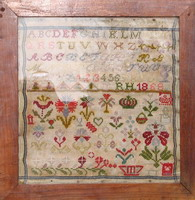 Antique sampler of Swiss origin R.H. 1868 <br> IEFD38-PRT