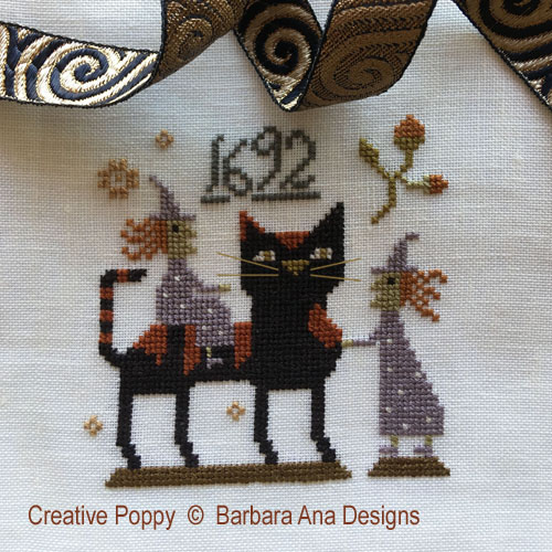 Witch Cat? cross stitch pattern by Barbara Ana Designs