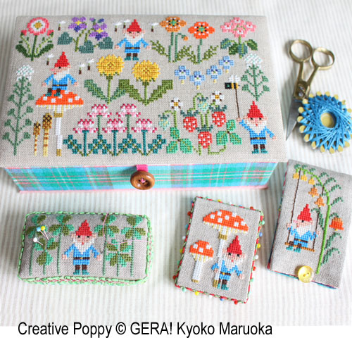 Gnomes in Springfield cross stitch pattern by GERA! Kyoko Maruoka