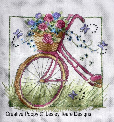 Vintage Bike cross stitch pattern by Lesley Teare