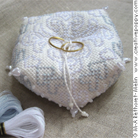 Wedding biscornu (ring cushion) <br> MAR016-PRT