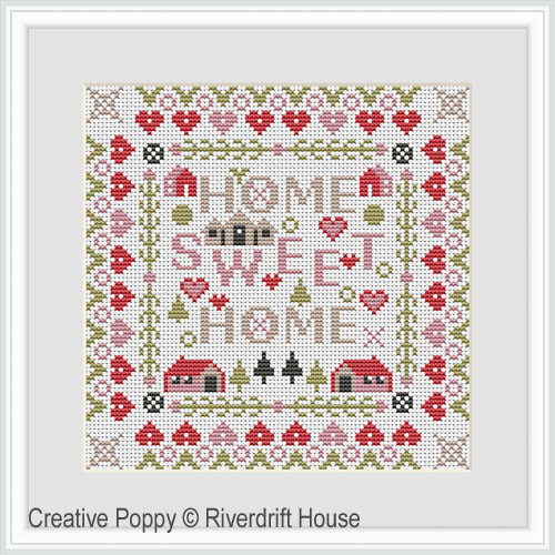 Mini Home Sweet Home cross stitch pattern by Riverdrift House