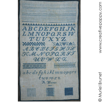 R. Werner 1907 Reproduction sampler <br> IEF054-PRT