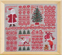 Christmas sampler with red Borders <br> PER007-PRT