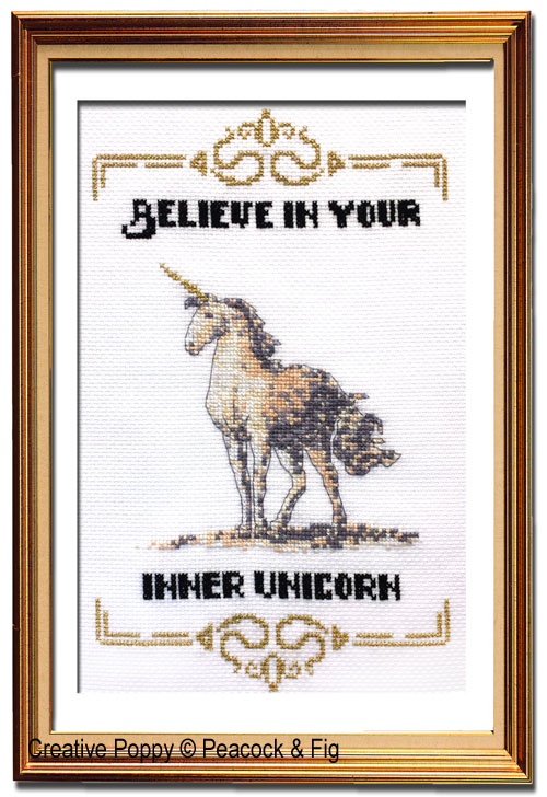 Peacock & Fig - Inner Unicorn (cross stitch chart)