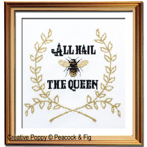 Peacock & Fig - Queen Bee (cross stitch chart)