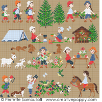 Happy Childhood- Mountain (large) <br> PER027-PRT