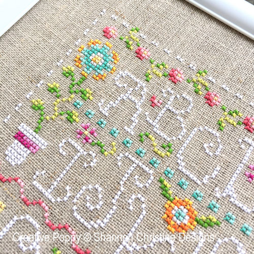 Funky Spring cross stitch pattern by Shannon Christine Designs, zoom 1