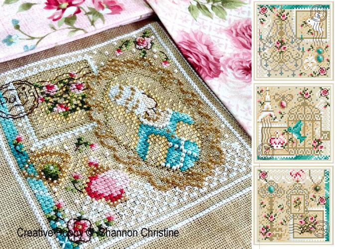 Romance in Paris cross stitch pattern by Shannon Christine Designs